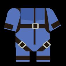 蓝色跳伞装